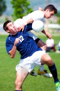 man with a soccer injury needs the houston oral surgery experts in emergency care