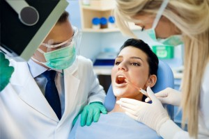 young female patient preparing for wisdom teeth removal